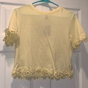 Forever 21 Yellow flower top!